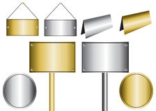 Placas de metal stock de ilustración