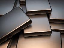 Placas de metal apiladas de la representación de los imanes 3D de la tierra rara del neodimio ilustración del vector