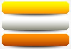 Placas de metal, chapas chapa de metal precioso, botão, CCB da bandeira ilustração do vetor