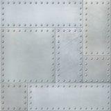 Placas de metal com rebites fundo ou textura sem emenda Fotos de Stock