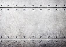 Placas de metal de acero con el fondo inconsútil de los remaches, 3d, illustra Imagenes de archivo