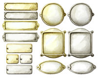 Placas de metal de la acuarela libre illustration