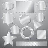 Placas de metal fijadas Imagen de archivo libre de regalías