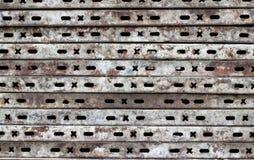 Placas de metal velhas Fotografia de Stock