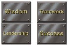 Placas de motivación Imagenes de archivo