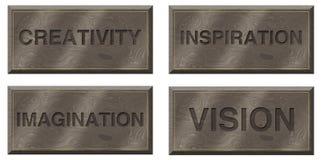 Placas de motivación Fotografía de archivo