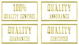 Placas de oro de la calidad Imagenes de archivo