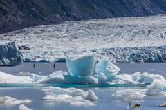Placas de pá em Spencer Glacier Lake imagem de stock