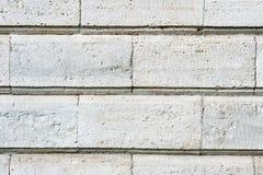 Placas de pedra velhas do revestimento no close up da parede Fotos de Stock Royalty Free