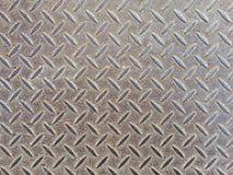 Placas de piso del metal para el fondo Fotografía de archivo