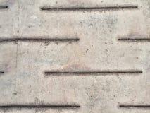 Placas de piso del metal para el fondo Foto de archivo libre de regalías