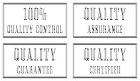 Placas de plata de la calidad Imagen de archivo