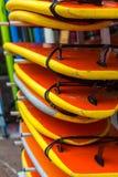 Placas de ressaca em uma pilha Fotografia de Stock