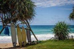 Placas de ressaca na praia Imagem de Stock Royalty Free