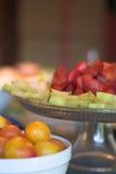 Placas de Starfruit da morango Fotos de Stock Royalty Free