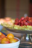 Placas de Starfruit de la fresa Fotos de archivo libres de regalías