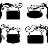 Placas decorativas ornamentado Imagens de Stock Royalty Free
