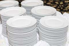 Placas del banquete Fotografía de archivo libre de regalías