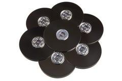 Placas del disco del mecanismo impulsor duro del ordenador. foto de archivo libre de regalías
