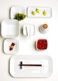 Placas del sushi Foto de archivo libre de regalías