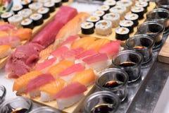 Placas del sushi Imagen de archivo libre de regalías