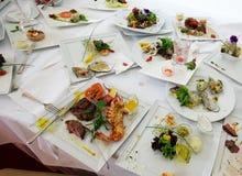 Placas después de la comida Foto de archivo