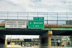 Placas do indicador da estrada em Boston América Imagem de Stock Royalty Free