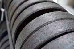 Placas do peso do peso e do barbell da aptidão Fotos de Stock
