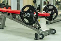 Placas do peso do peso e do barbell da aptidão Imagens de Stock