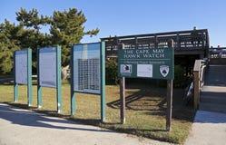 Placas do total do relógio do falcão de Cape May Fotografia de Stock Royalty Free