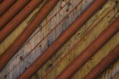 Placas e textura de madeira abstratas do fundo dos polos Foto de Stock Royalty Free