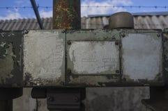 Placas en la vieja superficie de metal Imágenes de archivo libres de regalías