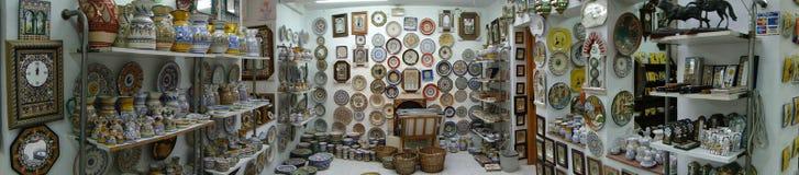 Placas espanholas da porcelana Foto de Stock