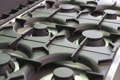 Placas metal-gas de la superficie del avellanador de las hornillas foto de archivo
