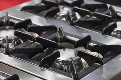 Placas metal-gas de la superficie del avellanador de las hornillas fotos de archivo libres de regalías