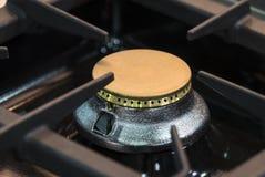 Placas metal-gas de la superficie del avellanador de las hornillas fotos de archivo