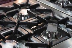 Placas metal-gas de la superficie del avellanador de las hornillas imagenes de archivo