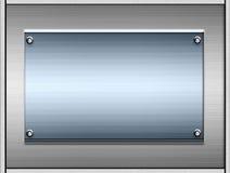 Placas o placas de metal Fotos de archivo