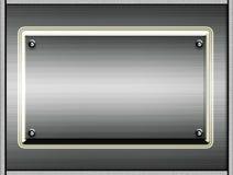 Placas o placas de metal ilustración del vector