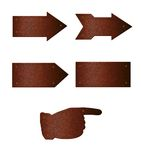 Placas oxidadas da seta ilustração do vetor