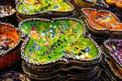 Placas paintinted com flores Foto de Stock