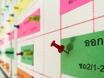 Placas para o planeamento Imagem de Stock