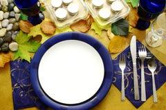 Placas prontas para o jantar Fotografia de Stock