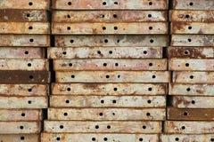 Placas shuttering del acero Imagen de archivo libre de regalías