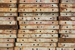 Placas shuttering do aço Imagem de Stock Royalty Free