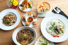 Placas tailandesas do alimento Imagens de Stock