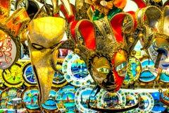 Placas Venetian Veneza Itália das máscaras Imagens de Stock