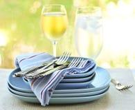 Placas y cuchillería Imagen de archivo