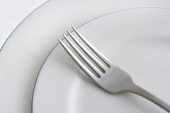 Placas y fork Fotografía de archivo