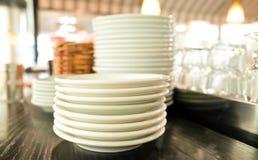 Placas y para los restaurantes foto de archivo libre de regalías